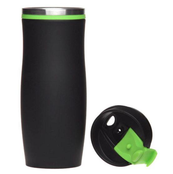 Термокружка 'Dark Crema' зеленая, 400 мл