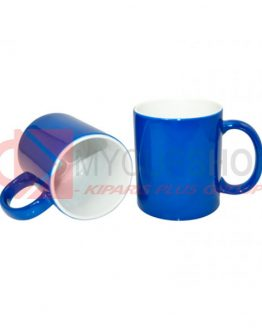Кружка керамическая, хамелеон, синяя, 330 мл