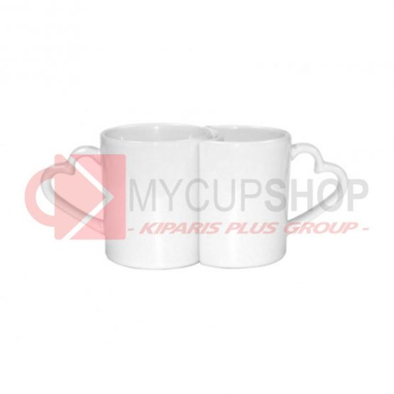 Парные чашки  для влюбленных. Форма сердца