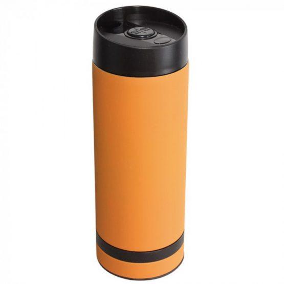 Кружка- термос оранжевая 380 мл.