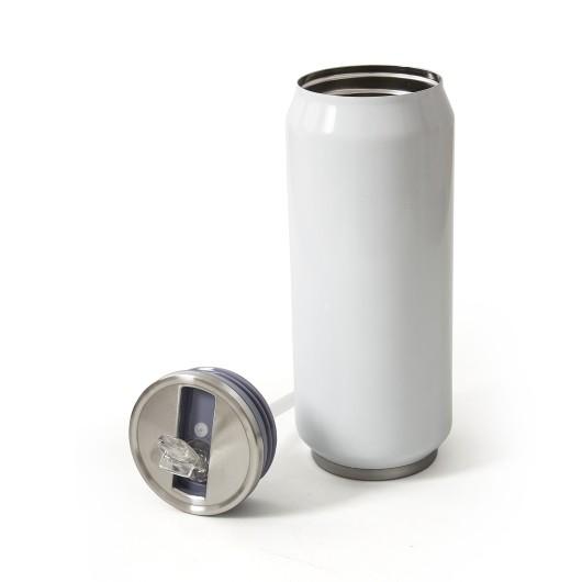 Термокружка металлическая LIBERUM белая