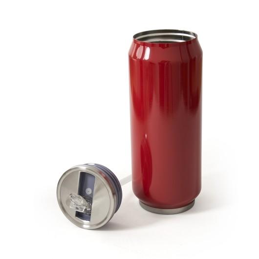 Термокружка металлическая LIBERUM красная