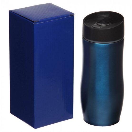Термокружка металлическая синяя,380 мл