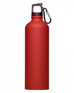 Спортивная бутылка с карабином (красная)