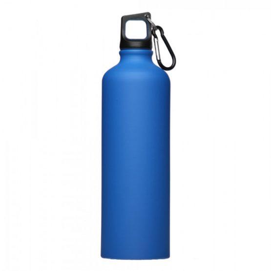 Спортивная бутылка с карабином (Синяя)