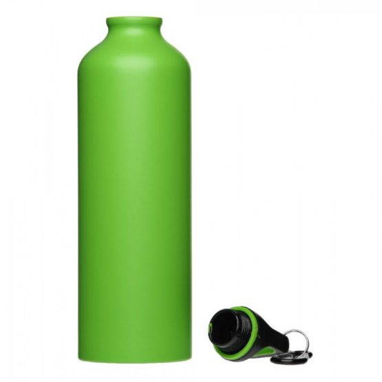Спортивная бутылка с карабином (зеленая)