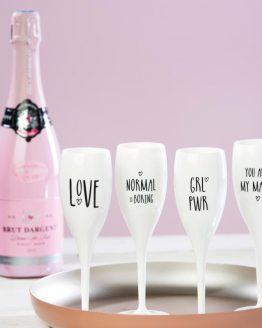 "Бокал для шампанского, 100 мл, белый ""LOVE"" (2 шт.)"