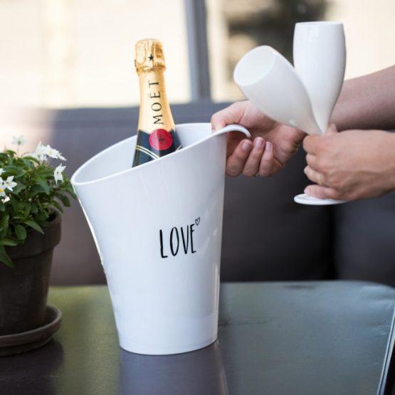 Бокал для шампанского, 100 мл, белый