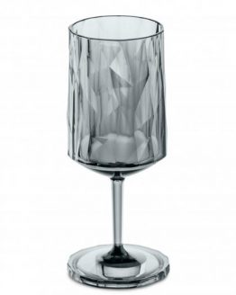 Бокал для вина, (прозрачно-серый)